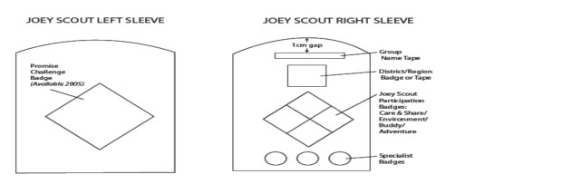 Joey Scouts Sleeve Badges